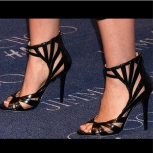 Jimmy Choo for H&M Black Caged Heel Size 9